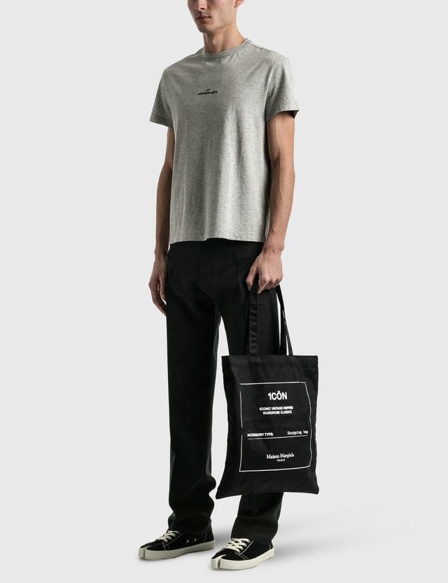 Maison Margiela Embroidered Logo T-Shirt Grey Melange Men