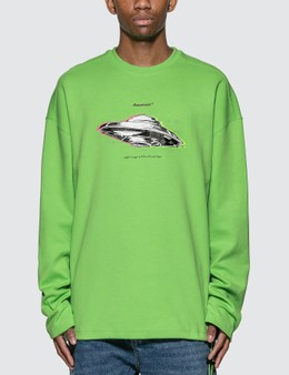 Ader Error Oversized Drawsring Long Sleeve T-Shirt
