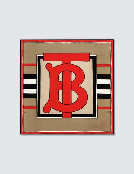 버버리 TB 헤리티지 스트라이프 스카프 Burberry TB Heritage Stripe Square Scarf