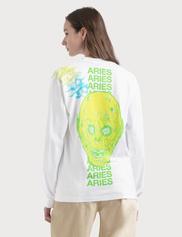 Aries French Monster Long Sleeve T-Shirt White Women