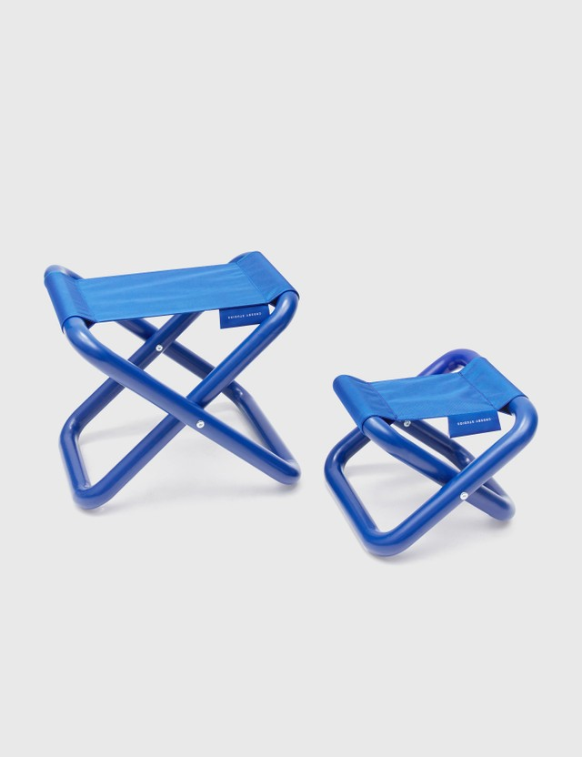 Crosby Studios Medium Folding Stool Blue Unisex