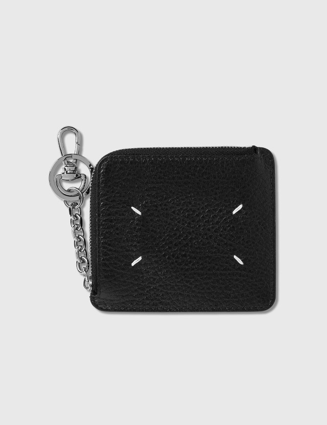 Maison Margiela Zip Card Holder With Keychain