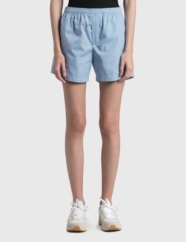 Daniëlle Cathari Deconstructed Cotton Shorts Light Blue Women