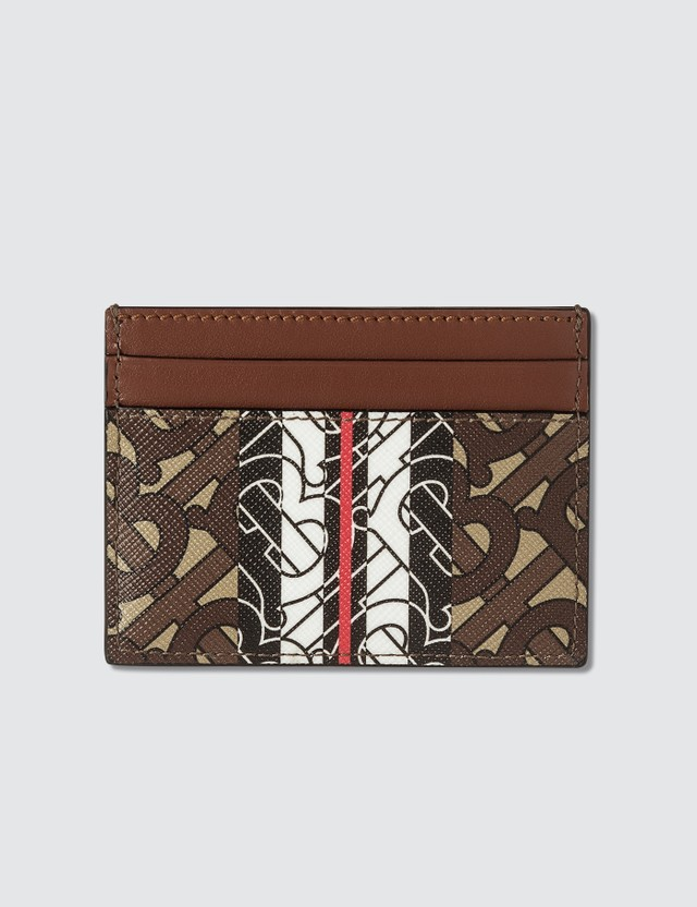 Burberry Monogram Stripe E-canvas Card Case