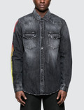 Marcelo Burlon Strong Wash Wings Denim Shirt Picture