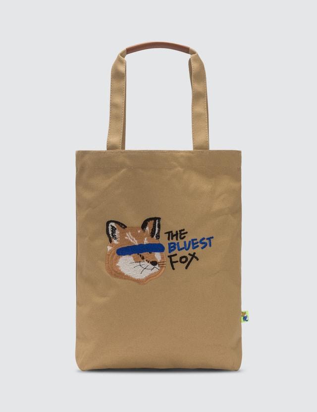 Maison Kitsune Ader Error x Maison Kitsune Fox Head Tote