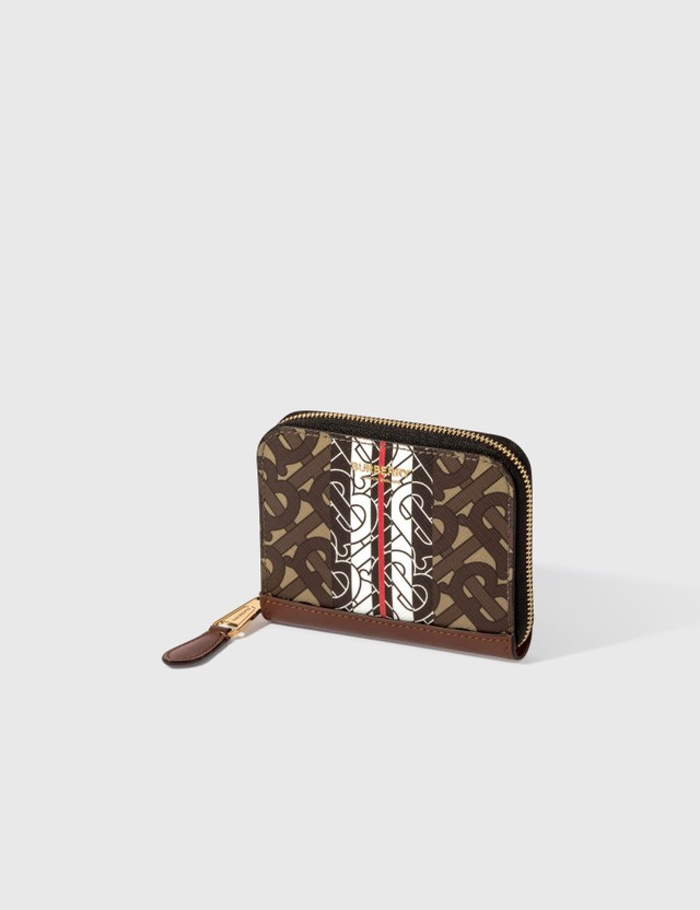 Burberry TB Monogram E-canvas Zip Around Wallet