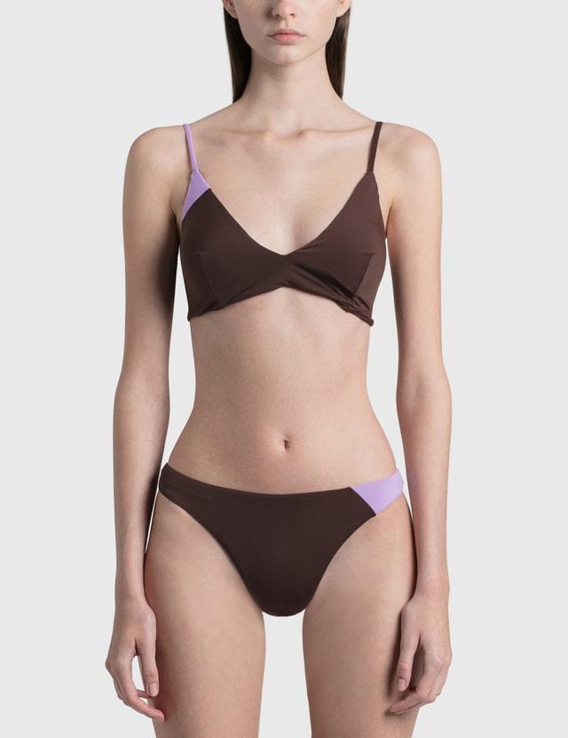 Daniëlle Cathari Deconstructed Bikini Top Brow / Lilac Women