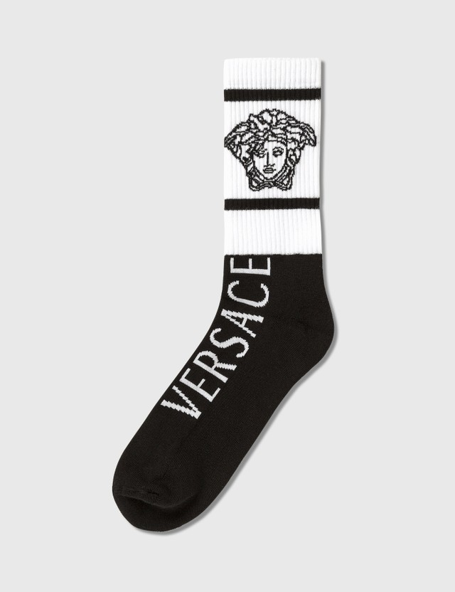 Versace Medusa Logo Socks Nero-bianco Men