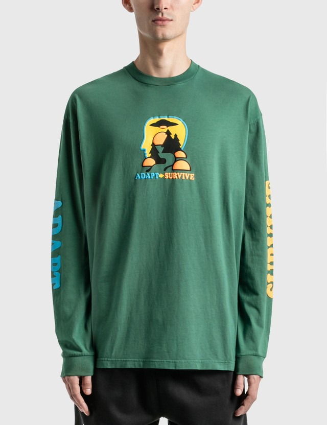 Brain Dead Adapt / Survive Long Sleeve T-Shirt Green Men