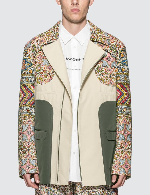Paria Farzaneh Iranian Print Panel Suit Jacket