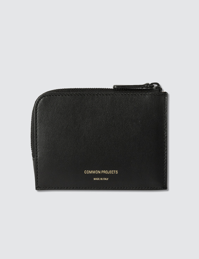 Common Projects Zipper Wallet In Soft Leather