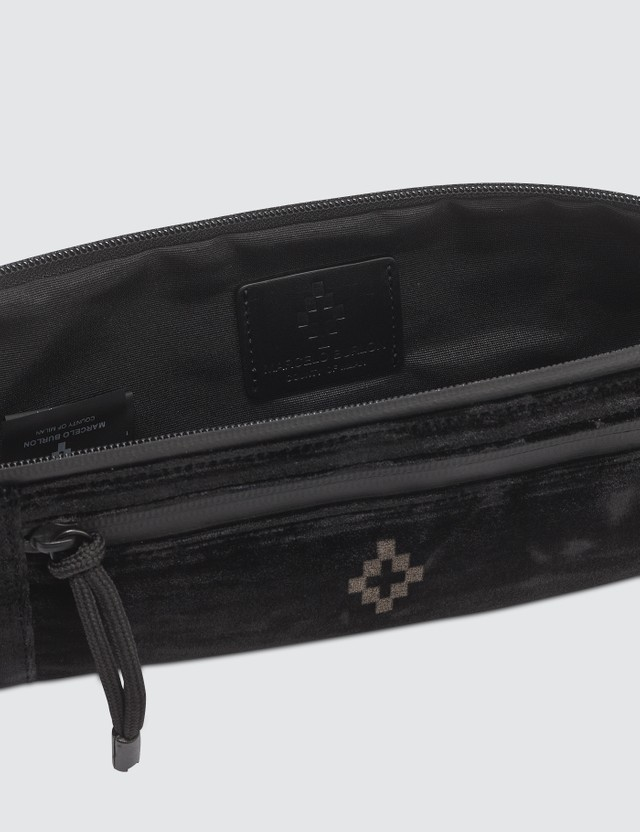 Marcelo Burlon Cross Velvet Fanny Pack