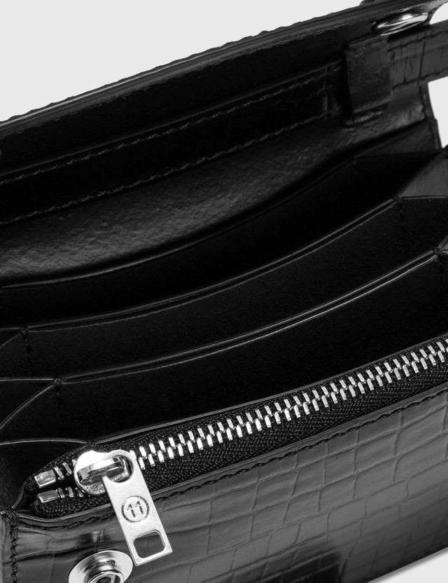 Maison Margiela Croco Embossed Crossbody Wallet
