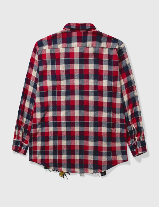 Needles Needles Ribbon Wide Flannel Shirt Red Archives