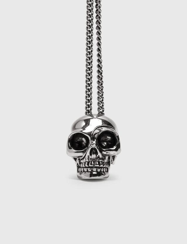 Alexander McQueen Divided Skull Pendant Silver Men