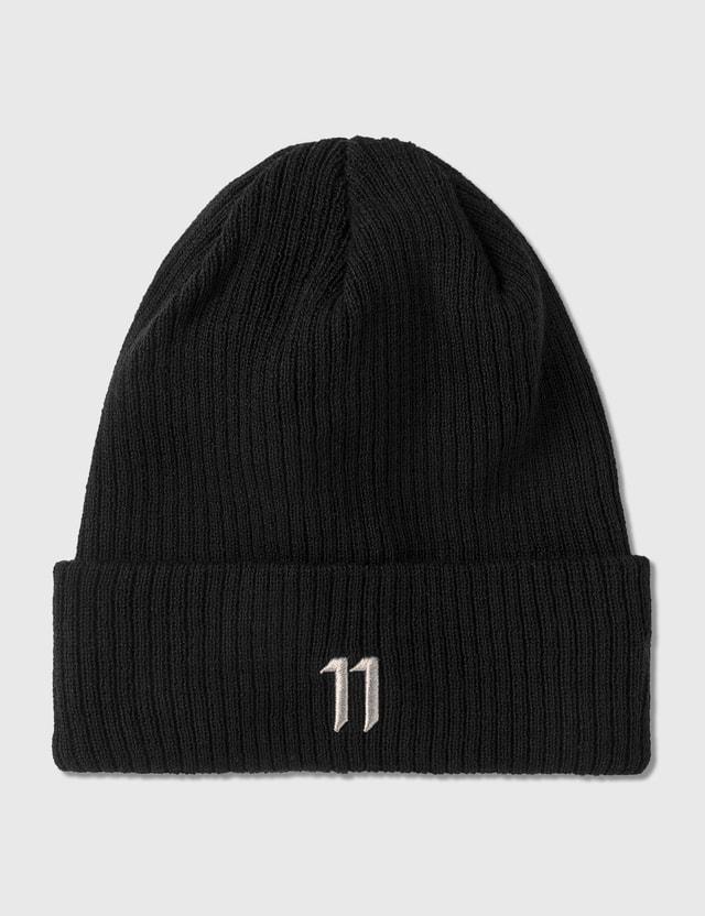 11 By Boris Bidjan Saberi Logo Beanie Black / Light Grey Men