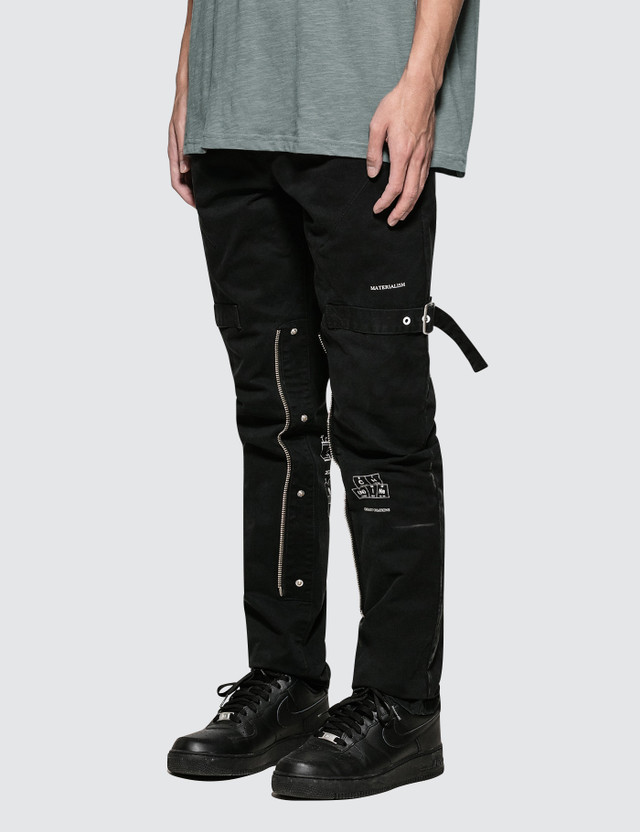 fd5e09c0 C2H4 Los Angeles Number (N)ine x C2H4 Guitar Blueprint Punk Cargo Pants
