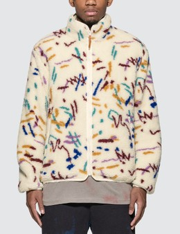 John Elliott Polar Fleece Zip Up Jacket