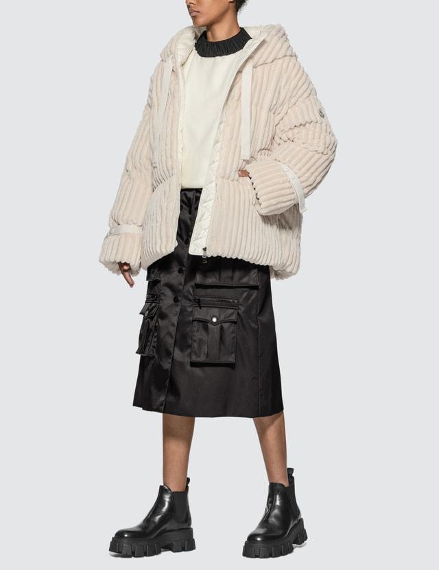 Moncler Velvet Hooded Down Jacket