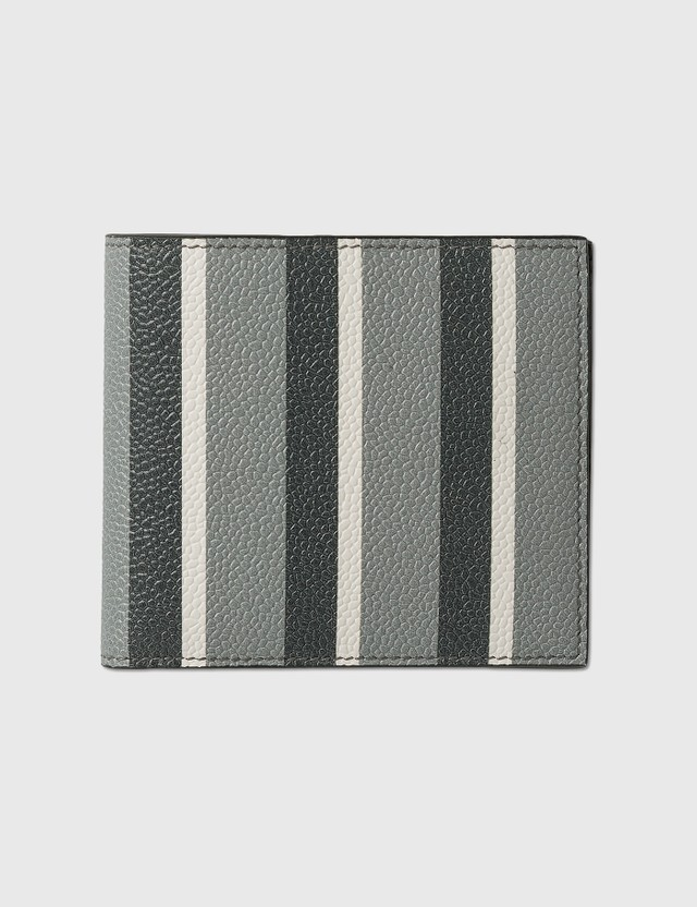 Thom Browne Billfold Stripe Print Wallet Med Grey Men