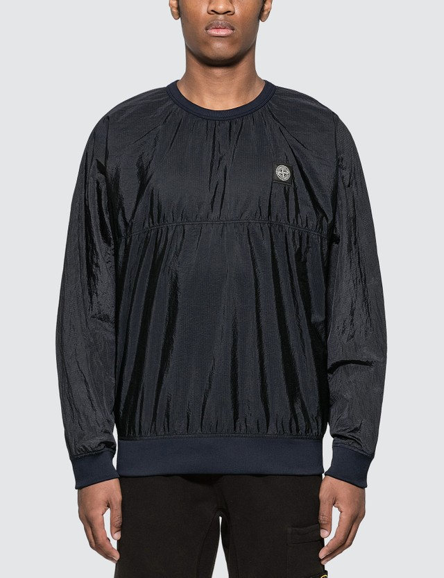 Stone Island Patch Nylon Sweatshirt