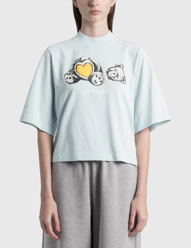 Palm Angels Bear In Love Cropped T-Shirt White Women