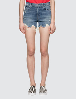 Mother High Waisted Rascal Slit Short