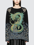 MM6 Maison Margiela Printed Oversized Long Sleeve T-Shirt Picture