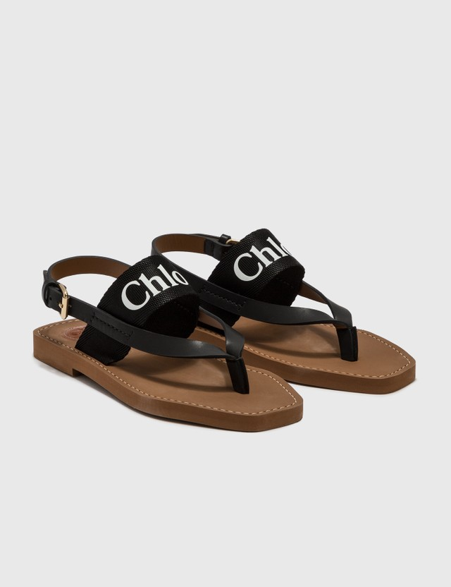 Chloé Woody Flat Sandal Black Women