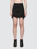 McQ Alexander McQueen Short Cut Up Zip Skirt Picture