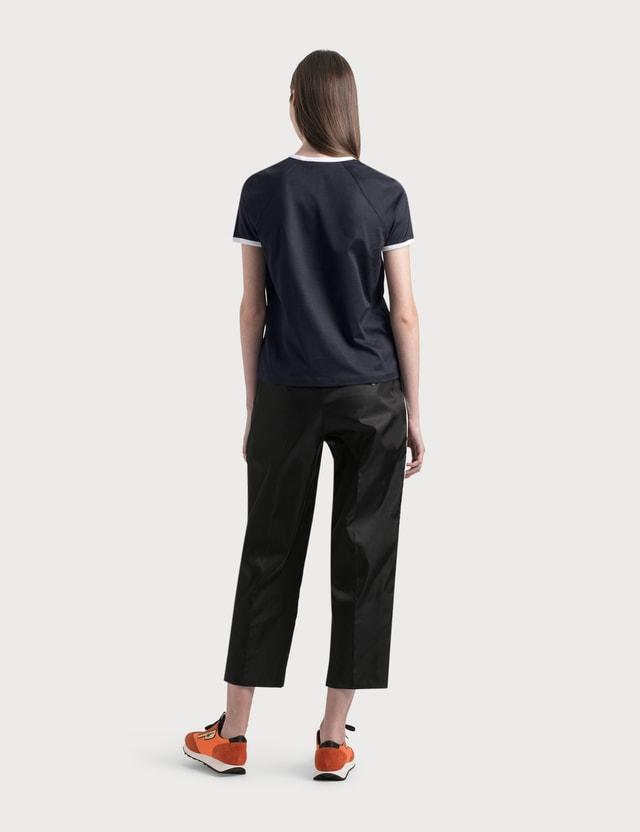 Prada Nylon Pants With White Piping Nero+bianco Women