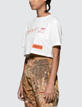 Heron Preston Stamp Print Crop Short Sleeve T-shirt