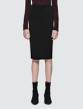 Alexander Wang Stretch Faille Ponte Midskirt With Back Zipper Picture