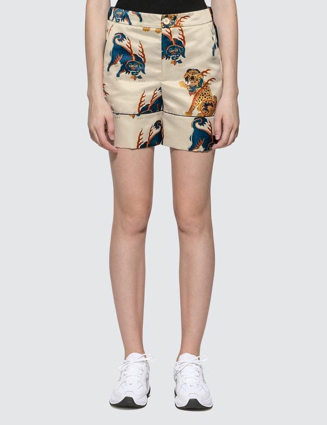 Kirin Haetae Duchesse Pajama Shorts Egret Mult Women
