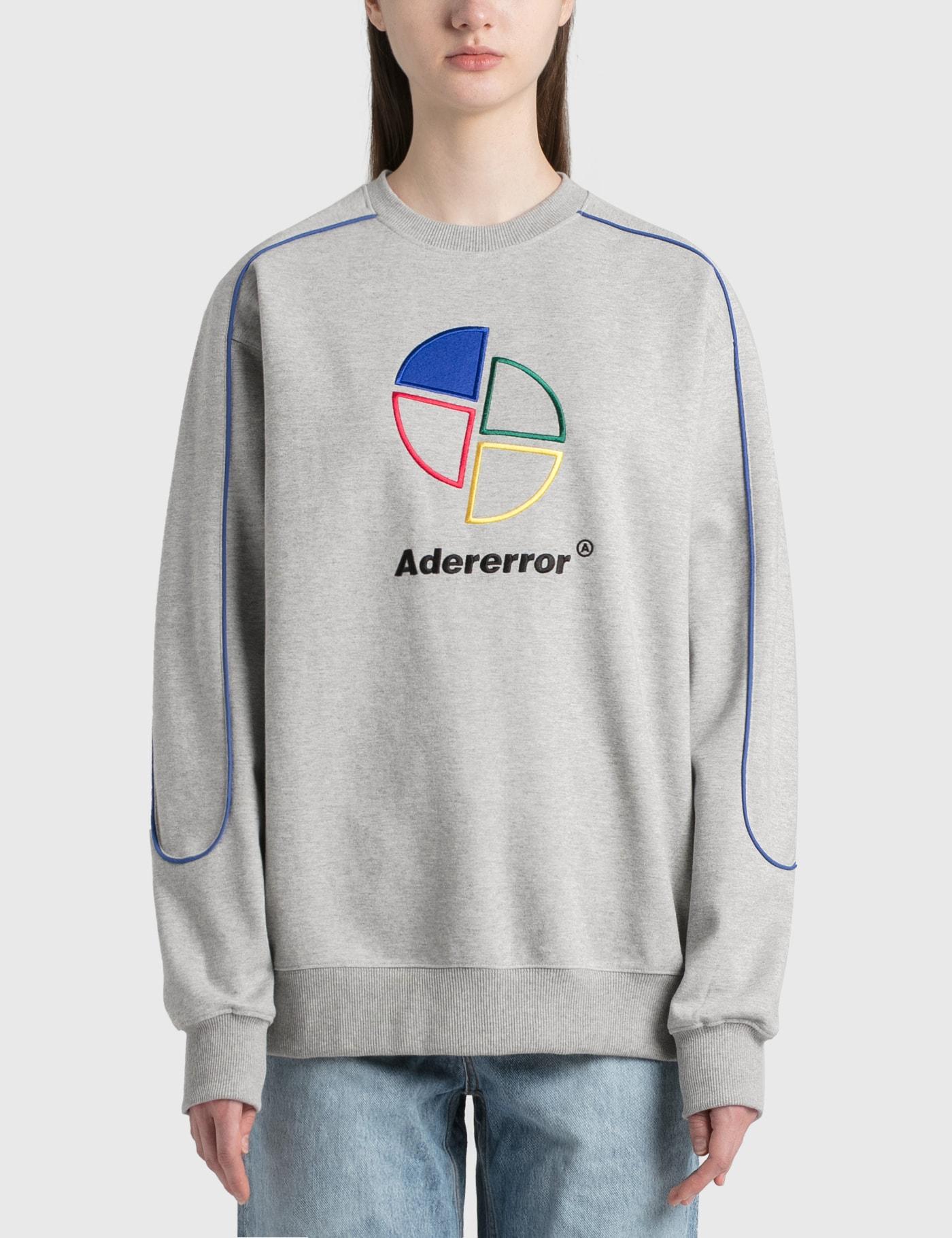 Ader Error Sliced Logo Sweatshirt In Gray