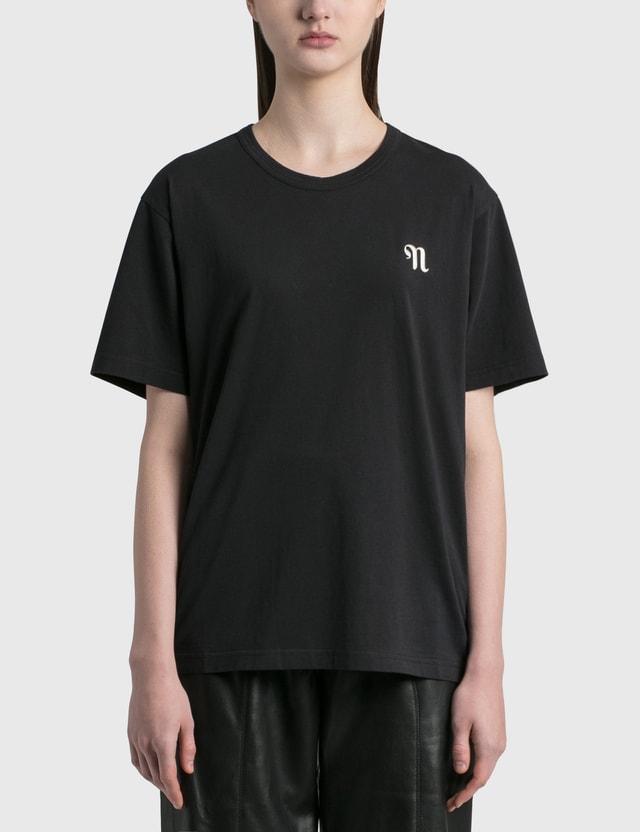 Nanushka Reece Logo T-shirt Black Women