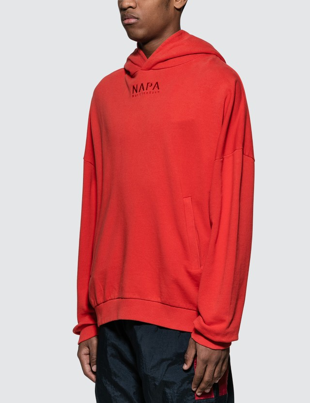 Napapijri x Martine Rose Embroidered Logo Hoodie Red Men