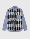 Comme des Garçons HOMME Comme Des Garçons Homme Wool Flannel Patchwork Shirt Blue Archives