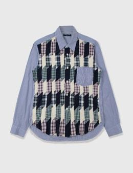 Comme des Garçons HOMME Comme Des Garçons Homme Wool Flannel Patchwork Shirt