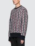 Champion Reverse Weave All Over Print Sweatshirt Navy Men