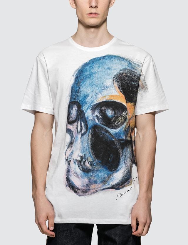 Alexander McQueen Skull S/S T-Shirt White Men