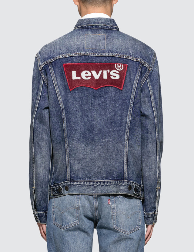 Levi's Claremont Red Housemark Trucker Jacket