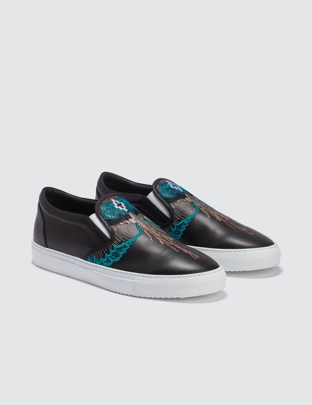 Marcelo Burlon Turquoise Wings Slip-on Sneaker