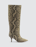 Yeezy Knee High Boot In Fake Python 70mm Heel Picutre