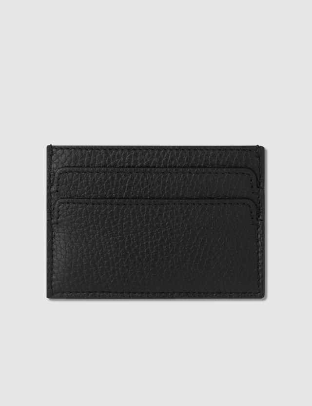 Alexander McQueen Grain Leather Card Holder