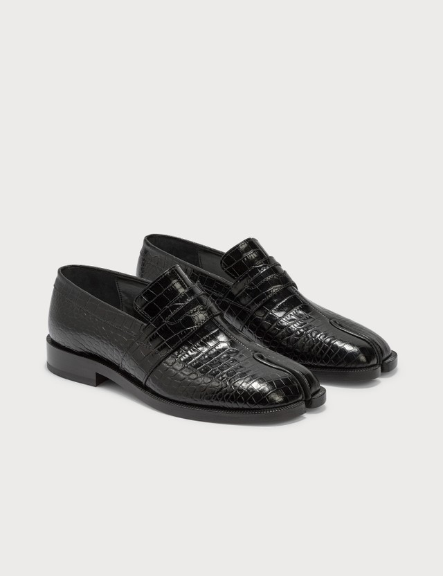 Maison Margiela Tabi Loafer In Croco