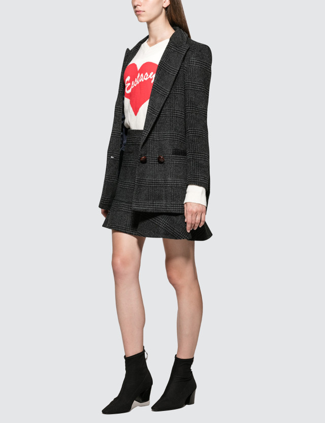 Ganni Woodside Plaid Skirt