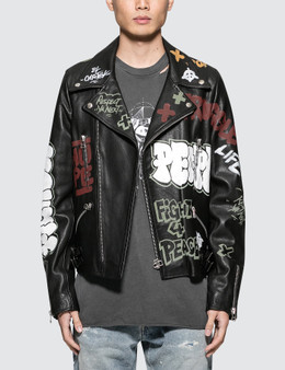 Faith Connexion Tag Leather Jacket