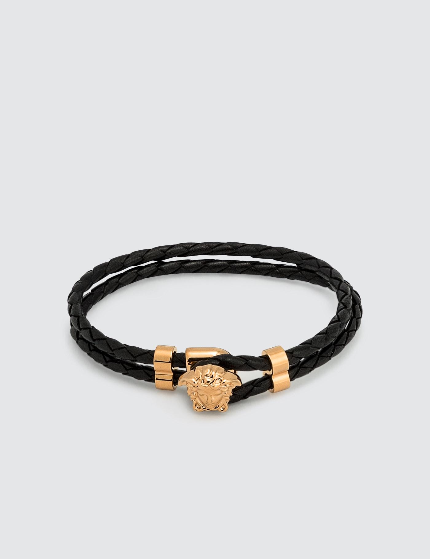 Medusa Leather Bracelet